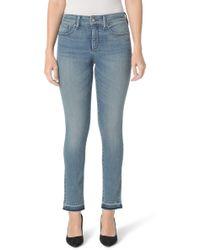 NYDJ - Sheri Release Hem Skinny Ankle Jeans - Lyst