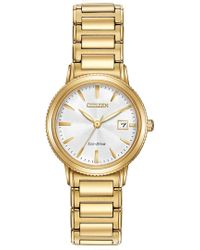 Citizen - Women's Eco-drive Silhouette Sport Gold-tone Bracelet Watch - Lyst