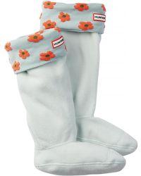 HUNTER - Original Tall Floral Cuff Boot Sock - Lyst