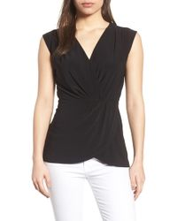 Chaus - Knot Front Sleeveless Top - Lyst
