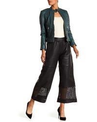 Liebeskind Berlin - Lasercut Leather Culottes - Lyst