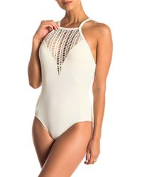 Robin Piccone - Sophia High Neck One-piece Swimsuit - Lyst