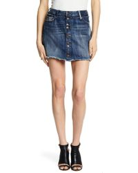 True Religion - Deconstructed Step Hem Skirt - Lyst