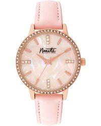 Nanette Nanette Lepore - Women's Pink Rubber Sport Watch, 39mm - Lyst