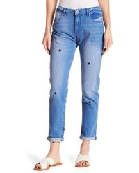 "Scotch & Soda - Petit Ami Star Embroidered Jeans - 30-34"" Inseam - Lyst"
