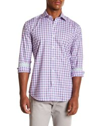 Bugatchi - Plaid Long Sleeve Shaped Fit Shirt - Lyst