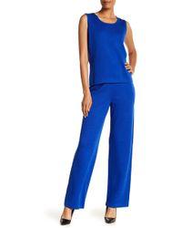 St. John - Santana Solid Wool Blend Trousers - Lyst