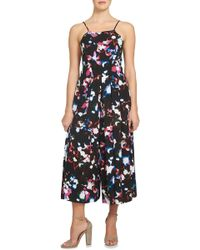 1.STATE - Pleated Culotte Jumpsuit - Lyst