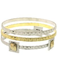 1928 - Two-tone Bangles - Set Of 3 - Lyst
