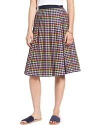 1901 - Pleated Check Skirt - Lyst