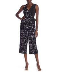 Spense - Printed Side-tie Jumpsuit - Lyst