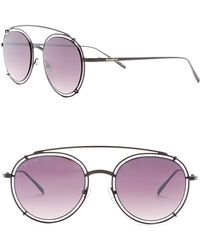 William Rast - Men's 50mm Round Aviator Sunglasses - Lyst