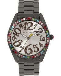 Betsey Johnson - Women's Rainbow Bezel Watch, 40mm - Lyst