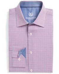 Bugatchi - Trim Fit Plaid Dress Shirt - Lyst