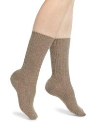 e0cc91d183c15 Kensie Cable Knit Slipper Socks in Black - Lyst