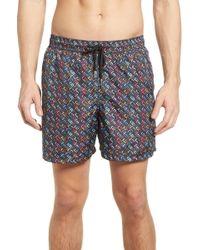 Jared Lang - Trim Fit Swim Shorts - Lyst