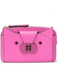 Anya Hindmarch Fox Leather Boxy Compact Wallet - Black