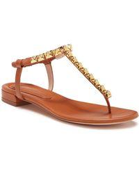 043b7eb5ac89 Lyst - Pedro Garcia Esme Embellished Sandals in Natural