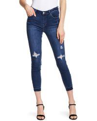 Kensie - Distressed Skinny Jeans - Lyst
