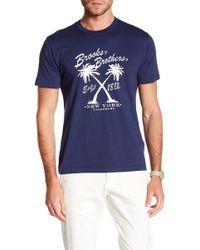 Brooks Brothers - Vintage Palm Crew Neck Tee - Lyst