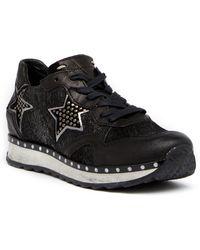 Khrio   Glittery Star Leather Sneaker   Lyst