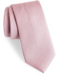Calibrate - Seedstitch Solid Cotton & Silk Tie - Lyst
