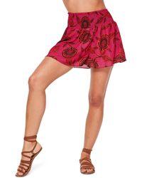 Missguided - Printed Chiffon Shorts - Lyst