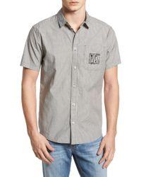 RVCA - Resort Disruption Short Sleeve Woven Shirt - Lyst