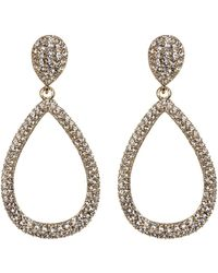 Nadri - Cz Pave Open Teardrop Dangle Earrings - Lyst
