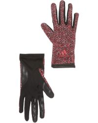 adidas - Tone Knit Contrast Gloves - Lyst