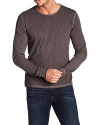 7 For All Mankind - Long Sleeve Crew Neck Tee - Lyst