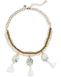 Panacea - Bead & Tassel Collar Necklace - Lyst