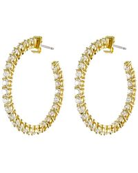 CZ by Kenneth Jay Lane - Round Cz Inside-out Hoop Earrings - Lyst