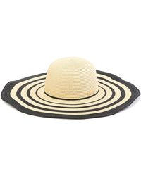 Vince Camuto - Ribbon Stripe Floppy Hat - Lyst