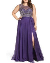 Mac Duggal - Embellished Ballgown (plus Size) - Lyst