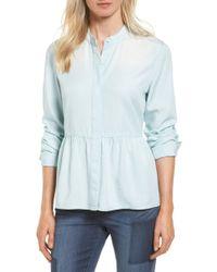 Caslon - (r) Peplum Shirt (regular & Petite) - Lyst