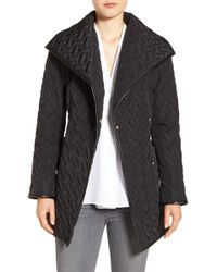 Cole Haan - Water Resistant Quilted Wrap Coat - Lyst