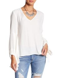 Fifteen Twenty - Lantern Sleeve Top - Lyst