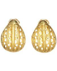 Oscar de la Renta - Scarab Stud Clip On Earrings - Lyst