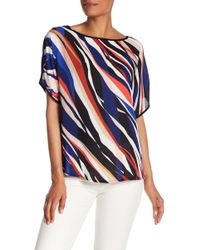 Vince Camuto - Dolman Sleeve Printed Blouse - Lyst