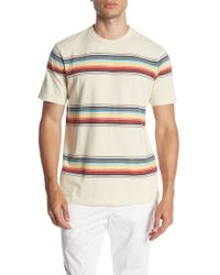 The Rail - Distressed Vintage Striped Short Sleeve Tee - Lyst