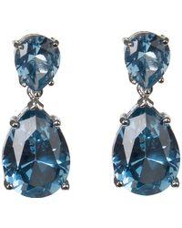 CZ by Kenneth Jay Lane - Prong Set Blue Cz Double Pear Cut Drop Earrings - Lyst