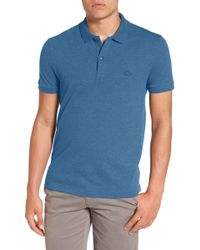 Lacoste | Pique Polo With Tonal Croc | Lyst