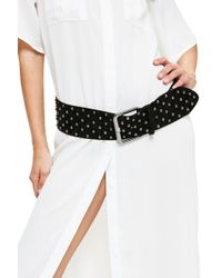 Missguided - Studded Faux Suede Belt - Lyst
