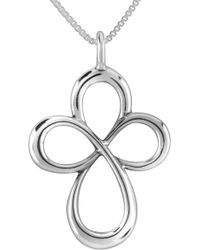 Relios - Sterling Silver Cross Pendant Necklace - Lyst