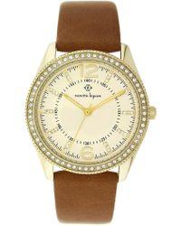 Nanette Nanette Lepore - Women's Quartz Faux Leather Strap Watch, 38mm - Lyst