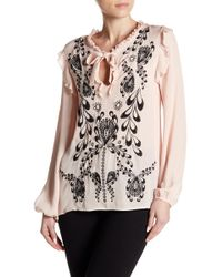Cynthia Rowley | Embroidered Silk Blouse | Lyst