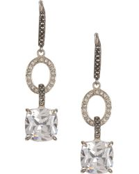 Judith Jack - Sterling Silver Crystal, Swarovski Marcasite & Cz Drop Earrings - Lyst