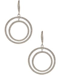 Judith Jack - Sterling Silver Pave Swarovski Crystal Double Halo Earrings - Lyst