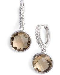 Judith Jack - Swarovski Crystal Accented Stone Drop Earrings - Lyst